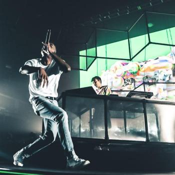 Vince Staples with Flume at Shrine Expo Hall