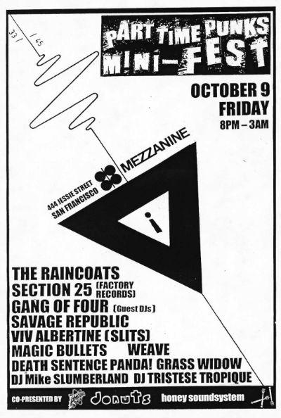 2nd Part Time Punks Festival flyer photo