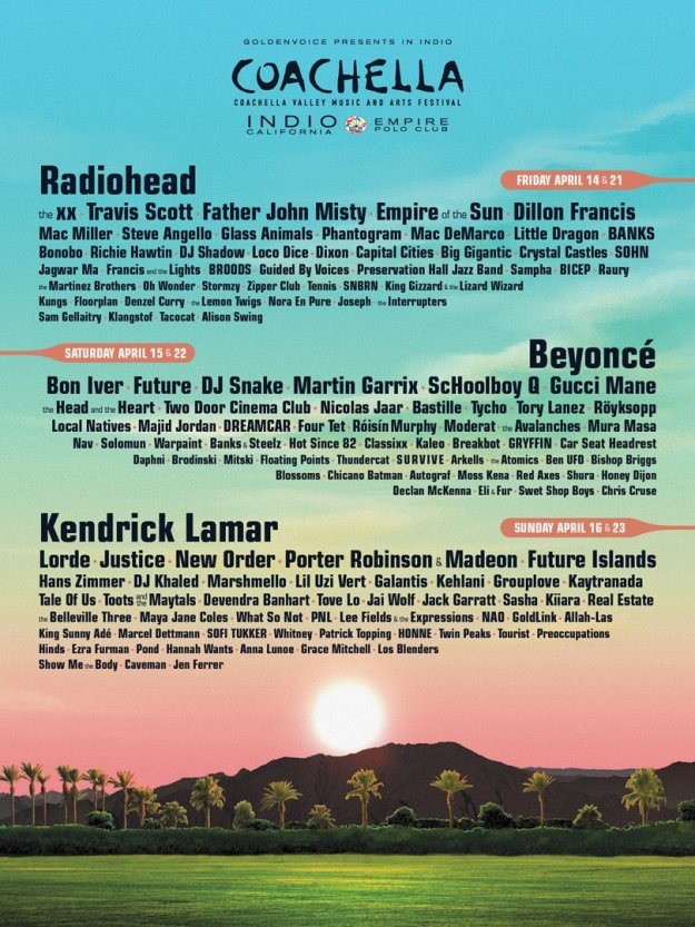 Coachella 2017 lineup poster official