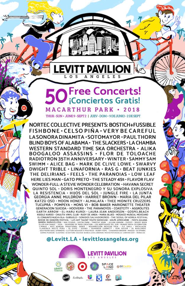 Levitt Pavilion 2018 lineup