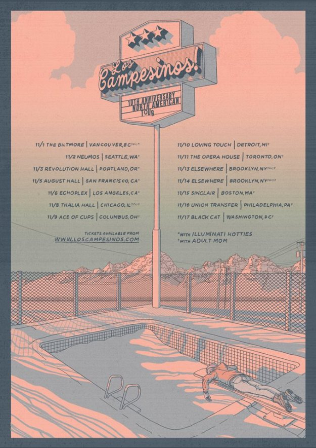 Los Campesinos! echoplex tour dates