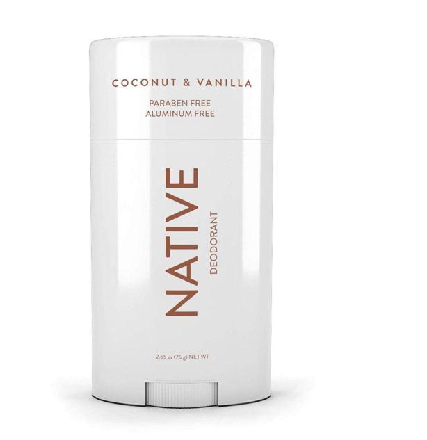 Native Coconut & Vanilla Deodorant - music festival packing list
