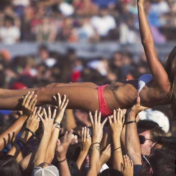 concert crowd crowd surfing