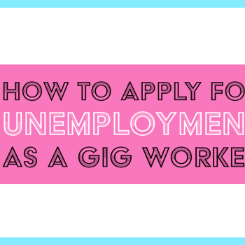 gig workers unemployment how to