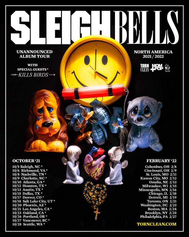 sleigh bells 2021 2022 tour dates