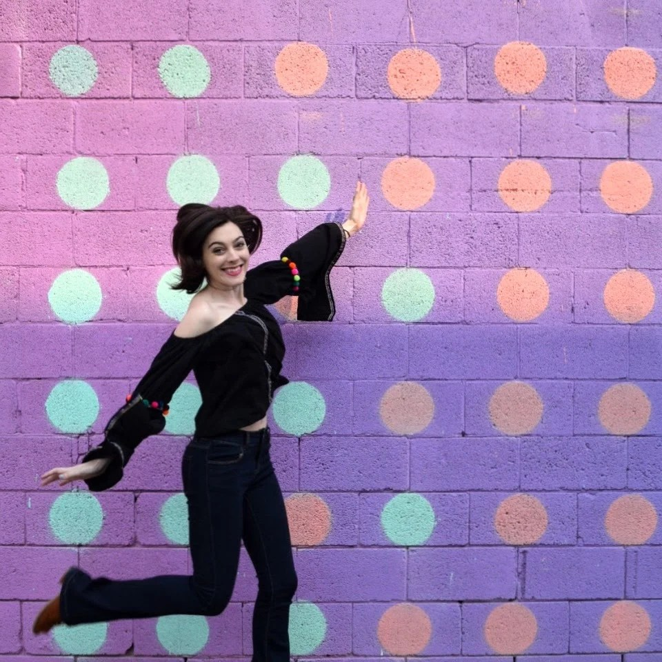 Polka dot wall in Chattanooga, Tennessee