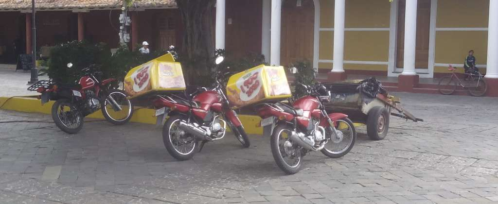 Speedy Tip Top delivery motorcycles.