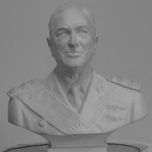 Peron bust in the lobby