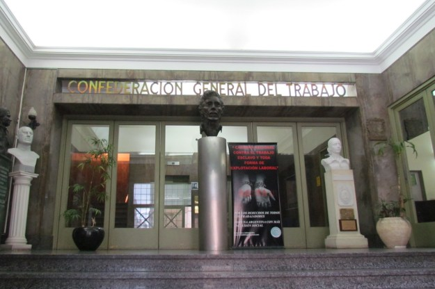 Entrance, CGT Building, Buenos Aires
