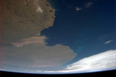 River Plate as seen from space