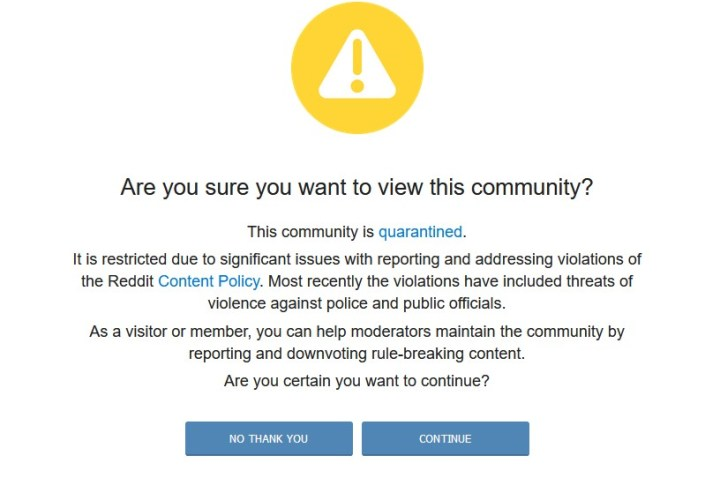 One of the worst places on the civilized internet is finally quarantined.