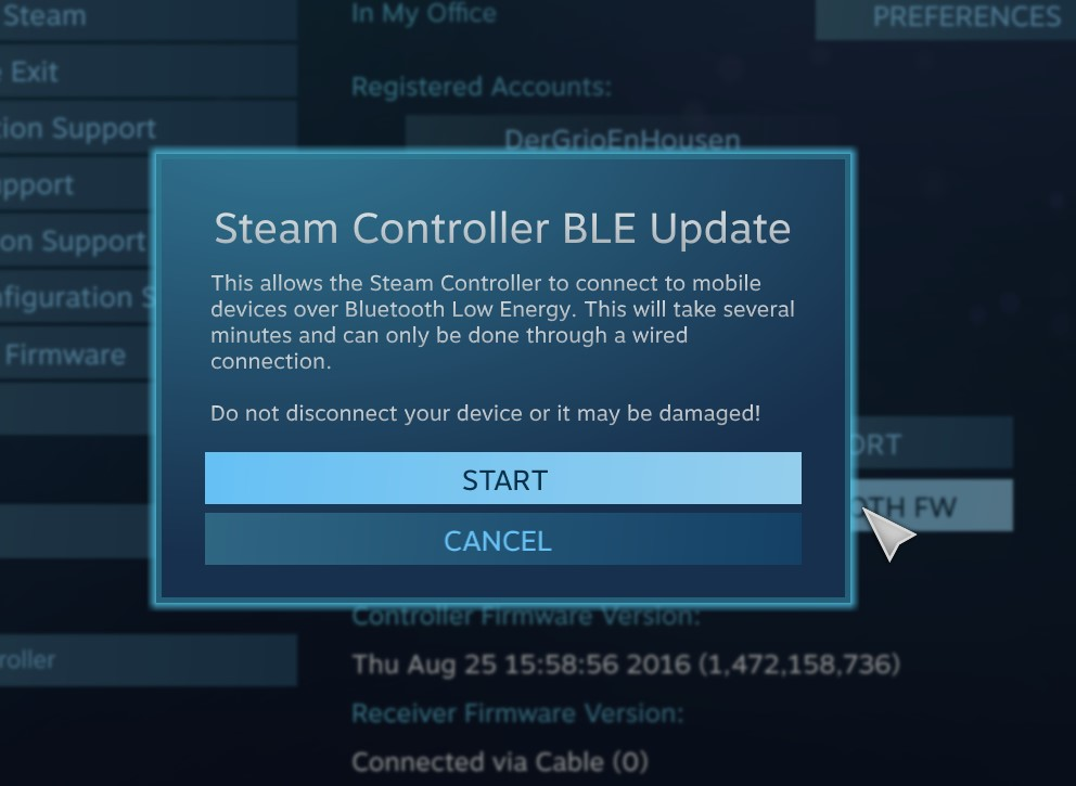 Steam Controller Troubles, Continued – g r i o   n e t