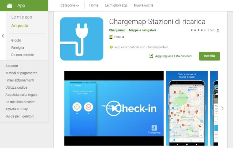 chargemap stazioni di ricarica screenshot