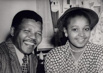 Nelson et Winnie Mandela au début des années 60