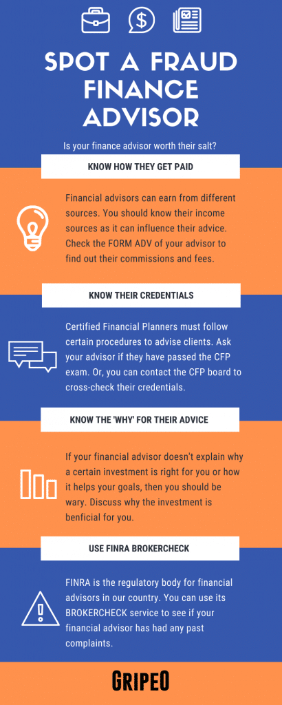 How To Spot A Fraud Finance Advisor (Infographic) Like Christopher Fernan