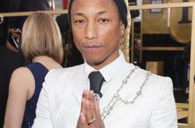 Pharrell Golden Globes Chanel