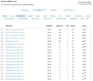 MicroWorkers Jobs Screenshot