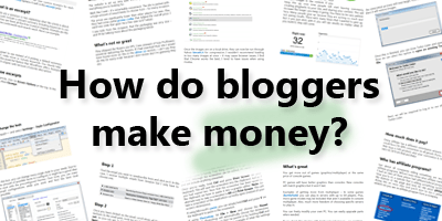How do bloggers make money?