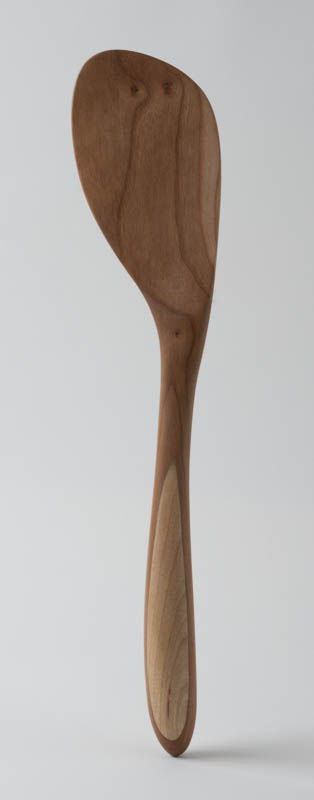 Paddle Spatula, in cherry and birch