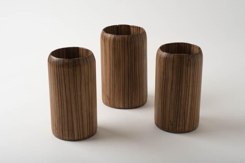 Zebrawood pots