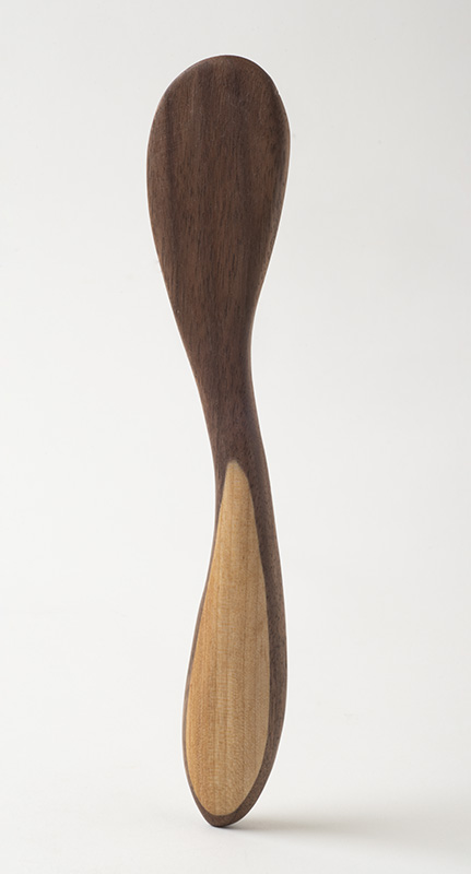 Butter knife, in walnut and birch