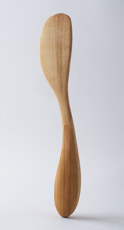 Butter knife, in birch and cherry