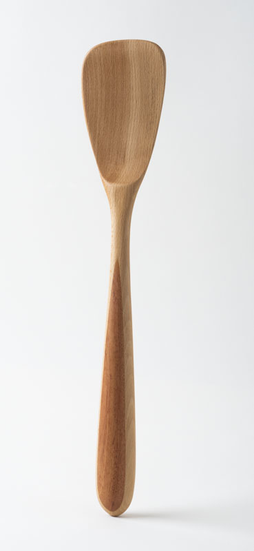 Blunt Spatula, in birch and cherry