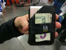 Tub brand wallet from tires