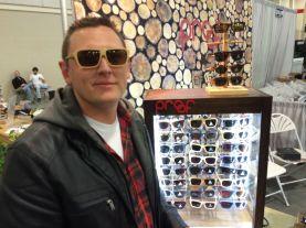 Griptioneer Mike wearing wood Glasses