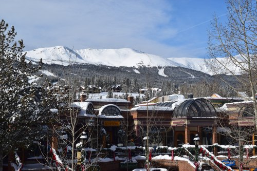 View of the mountain from the coffee shop at Breckenridge