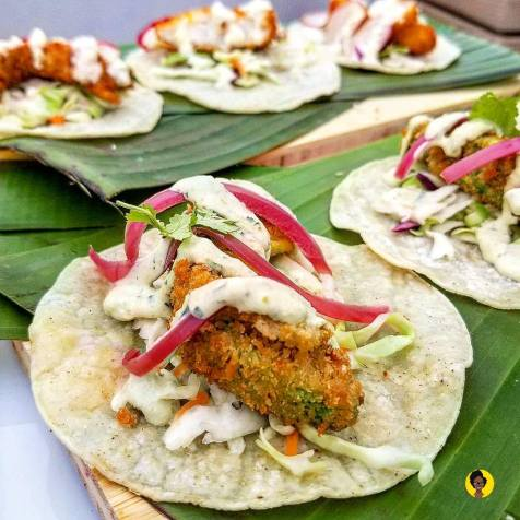 Fried Avocado Tacos