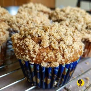 Gluten-Free Banana Caramel Muffin