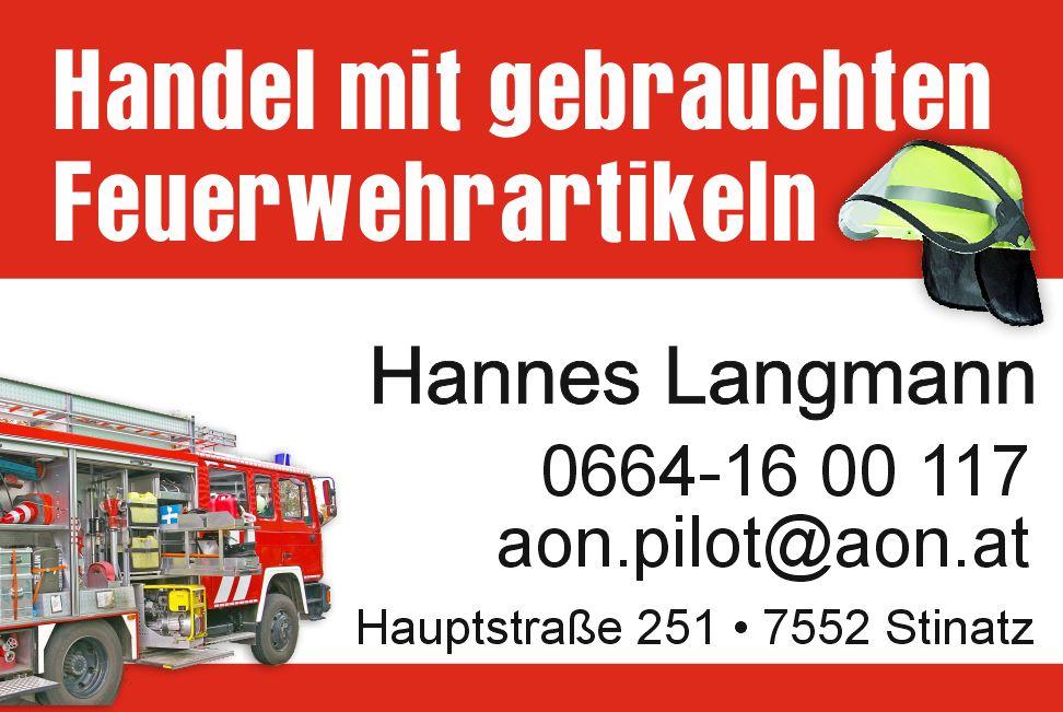 Hannes Langmann - Handel mit gebrauchten Feuerwehrartikeln