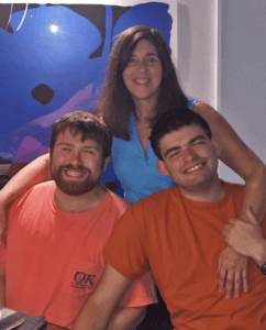 NEXT for AUTISM: Ilene Lainer with her sons, Max (23) and Ari (20)