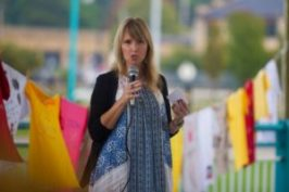 Speaking at a domestic abuse walk that took place near me.