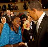 Rehmah Kasule and President Obama