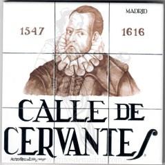 Azulejo Calle de Cervantes