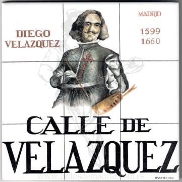 Azulejo Calle de Velázquez