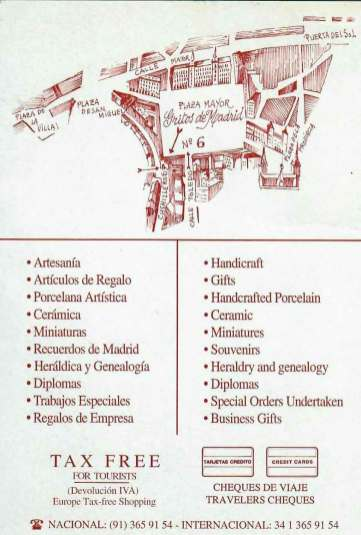 Antigua tarjeta postal comercial Reverso