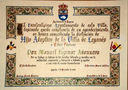 Diploma Manuel Espinar