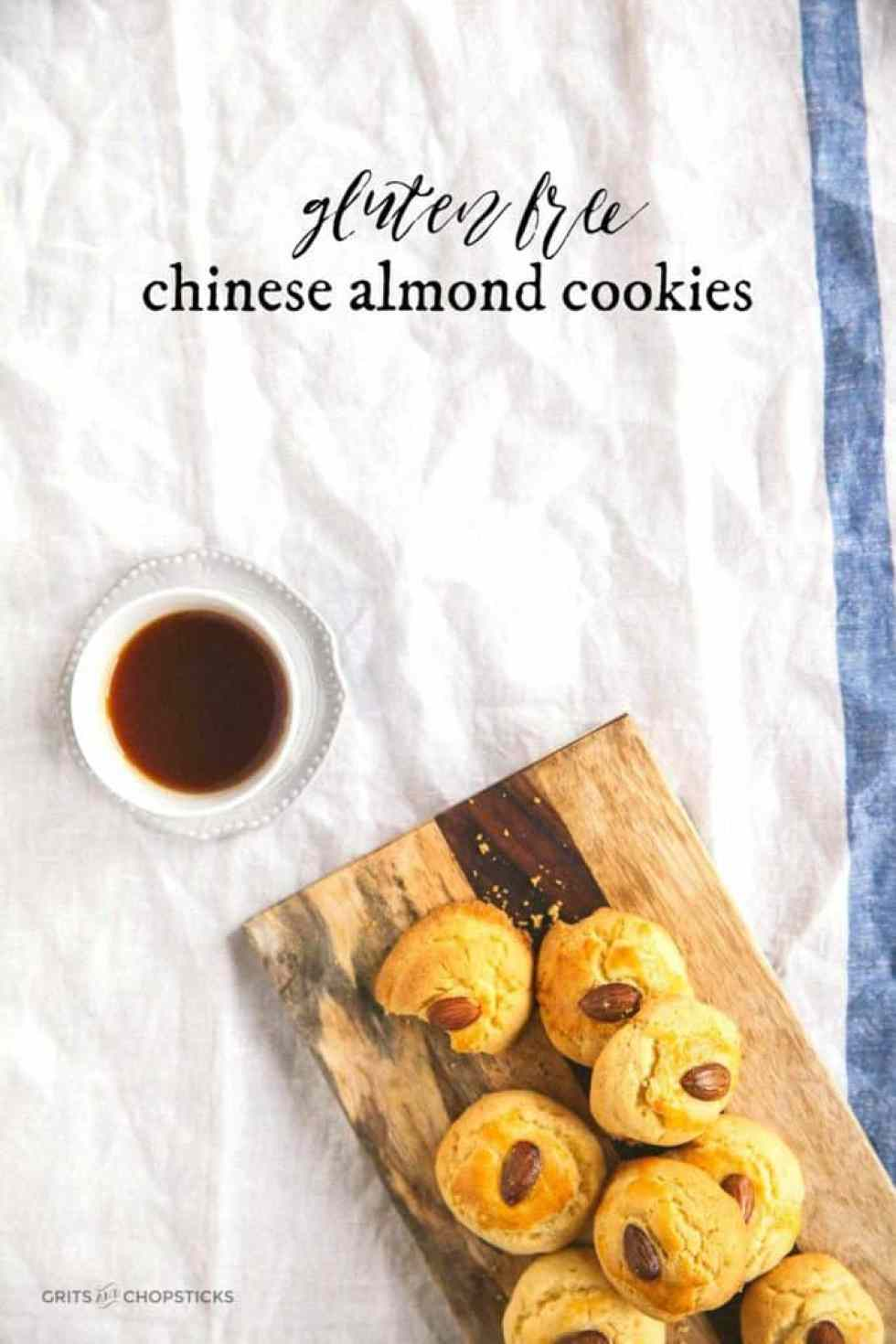 Make these gluten free Chinese almond cookies to celebrate the Year of the Rooster