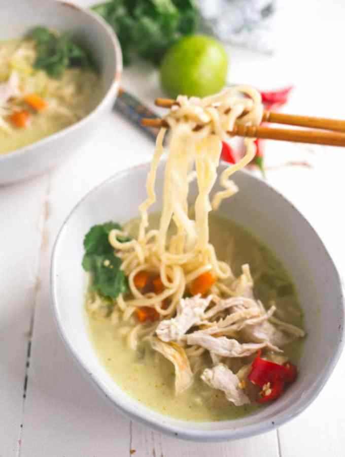 green curry chicken noodle soup