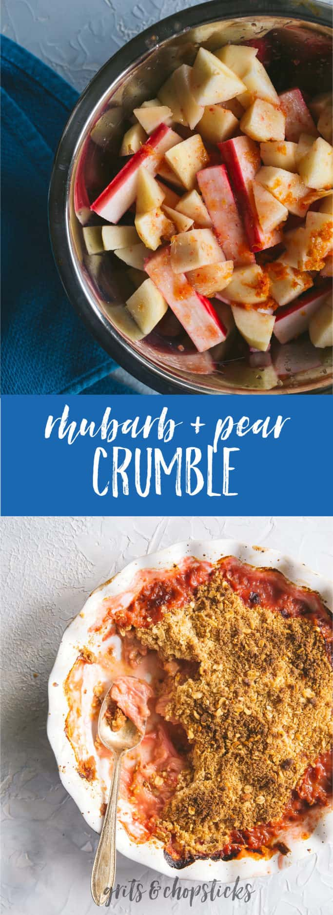 This amazing rhubarb and pear crumble is a great option for a winter dessert; click here for the recipe!