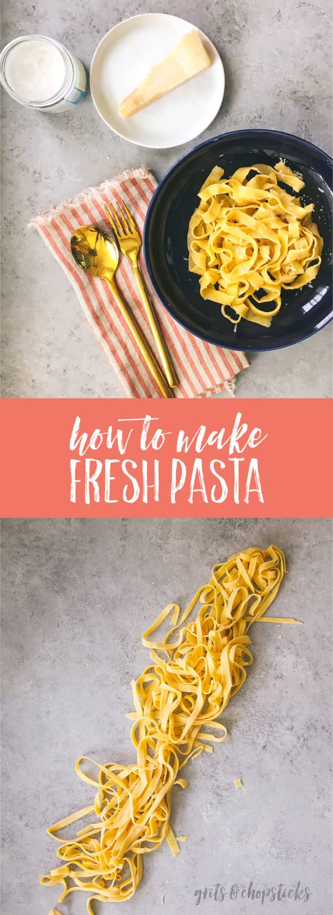 Making fresh pasta without a machine couldn't be easier -- click here for a video on how to do it!