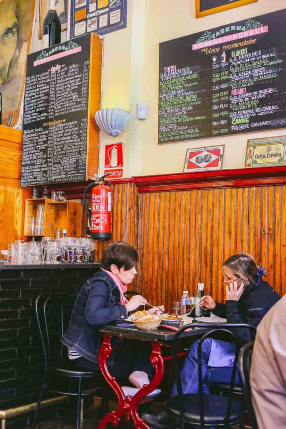 must eat foods in madrid - bodegas rosell