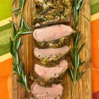 Herb Crusted Roasted Pork Tenderloin