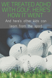 How We Used Junior Golf to Naturally Treat Our Son's ADHD // www.gritsngrace.com