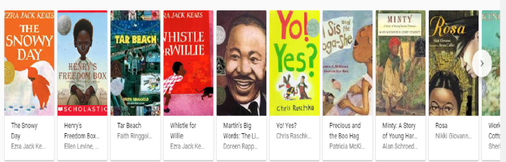 representations of black characters in children's books