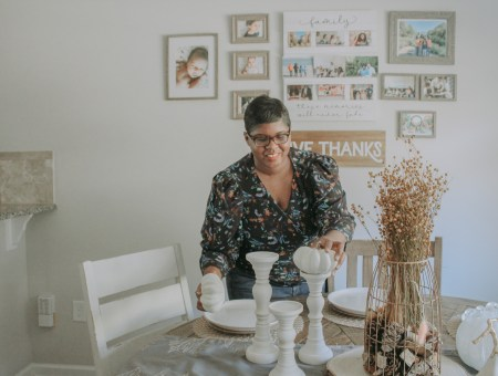 Atlanta lifestyle and parenting blogger Natasha Brown of Grits & Grace fall decor from Pottery Barn and Williams Sonoma