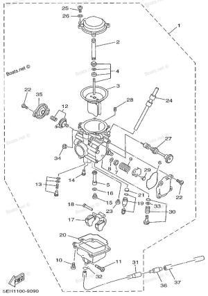 1999 Yamaha Kodiak CARB adjustment issue  Yamaha